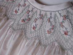 "Smocked Dress ""Babycakes"" Sizes 6 to 12 Smocking Baby, Smocking Plates, Smocking Patterns, Sewing Patterns, Smocking Tutorial, Smocked Baby Dresses, Baby Dress Design, Pleated Fabric, Heirloom Sewing"