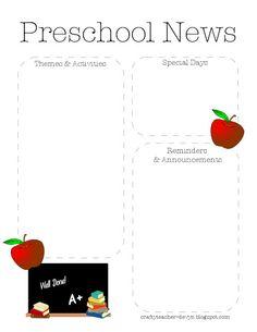 October Halloween Preschool Newsletter Template  The Crafty