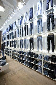 Denim Visual Merchandising_Jill  Joy unisex fashion store by Riis Retail, Esbjerg Denmark store design