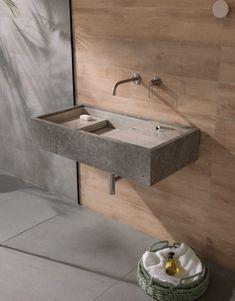 Oak Vanity Unit, Washbasin Design, Home Office Setup, Industrial Living, Hand Washing, Sink, House Design, Home Decor, Bathrooms