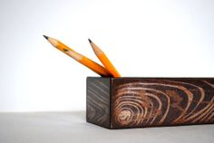Wood Grain Pencil Box by Mmim on Etsy, $12.00