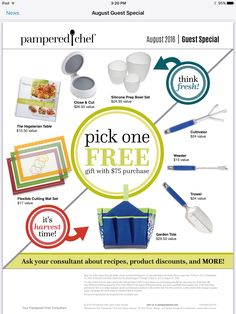 Spend $75 or more and earn one of these Guest Specials for FREE!   www.pamperedchef.com/pws/Jvelasco