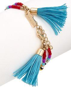 Rue La La — Shira Melody Plated Glass Bead Bracelet