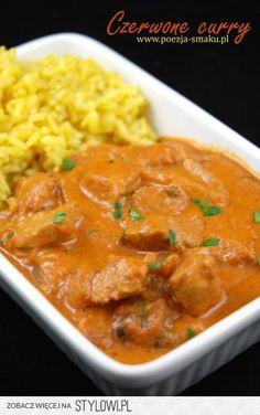 Czerwone curry z kurczaka czyli tikka masala Garam Masala, Thai Red Curry, Catering, Food And Drink, Tasty, Dishes, Chicken, Cooking, Healthy