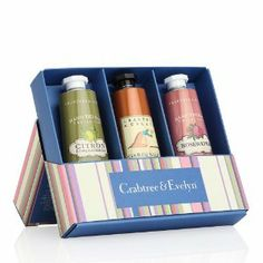 Crabtree & Evelyn Hand Therapy Sampler (3 x 25g Citron, Rosewater & Gardeners) by Crabtree & Evelyn. $39.99. 3-piece Petite Hand Therapy Sampler. Crabtree & Evelyn Hand Therapy Sampler (3 x 25g Citron, Rosewater & Gardners)