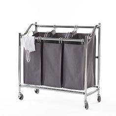 neatfreak Three Bag Laundry Sorter Cart