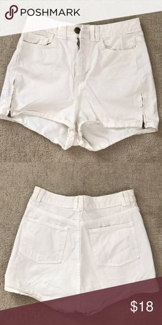 American Apparel High Rise Shorts White high rise Shorts. Perfect for summer.  In good condition. American Apparel Shorts Jean Shorts
