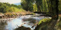 Gunnison River at Neversink, painting by artist Zack Thurmond