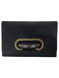 Black Leather Handheld Envelop Clutch Envelope Clutch 66c74c6d6aa57