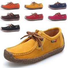 Free Shipping Women Genuine Leather  Shoes Casual Shoes Female Fashion    Boat Shoes Women Loafer Cow Leather Lace-up Sewing