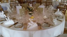 Round table setting inspiration for your Wedding Day - we've lots of styles to choose from at Luttrellstown Castle Resort