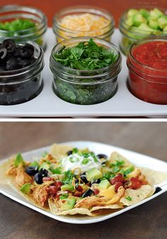 Slow cooker recipes are perfect for the holidays! This Slow Cooker Chili Chicken Nacho Bar is easy to make and can be served at a holiday party.