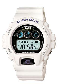 Casio Men's GW6900A-7 G-Shock White Atomic Digital Sport Watch