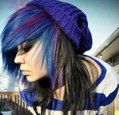Blue and Purple Hair:3