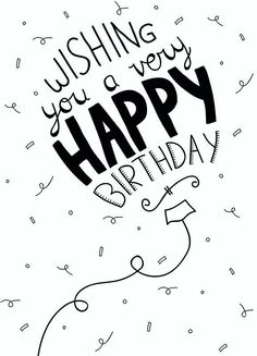 Best Birthday Quotes : Wishing you a ver happy birthday - Quotes Boxes Happy Birthday 手書き, Happy Birthday Images, Happy Birthday Greetings, Birthday Messages, Special Birthday, Happy Birthday Writing, Happy Birthday Drawings, Hapoy Birthday, 20th Birthday