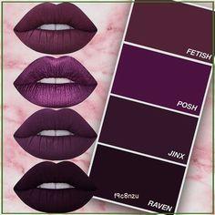 Lipstick Shades, Lipstick Colors, Lip Colors, Dark Lipstick, Winter Lipstick, Lime Crime Lipstick, Makeup Goals, Makeup Tips, Beauty Makeup