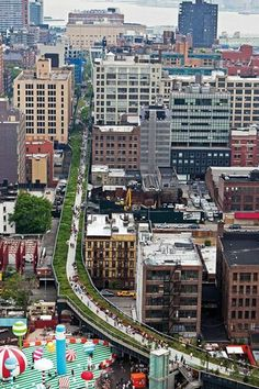 New York City's Highline - a free garden on an abandoned elevated rail line.  Brilliant!