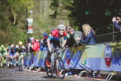 Bob Jungels grimace as he attacks an Amstel Gold Race climb