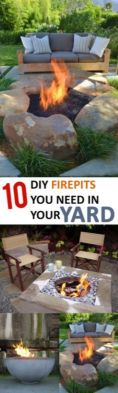 Amazing fire pit ideas that you will want for your yard!-Firepits are no longer just for camping. Firepits are the calling card of a summer party. I love how every one gathers around them to roast marshmallows and to talk! Here are 10 great firepit ideas to incorporate into your backyard!
