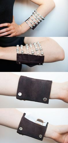 Custom Beaded Wrist Wallet Erin Style Tailored by televised