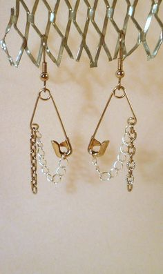 Safety Pin Earrings!