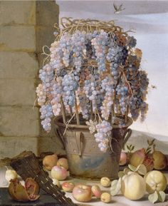 """desimonewayland: """" Luca Forte, Still Life with Grapes and other Fruit, 1630s The…"""