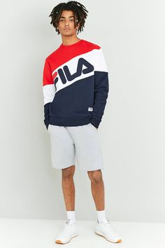 Shop FILA Nate Red and Navy Crewneck Sweatshirt at Urban Outfitters today. We carry all the latest styles, colours and brands for you to choose from right here.