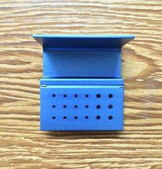 5Pcs 18 Holes Dental FG RA Bur Burs Holder Autoclave Block Box New Blue #Shaind2014