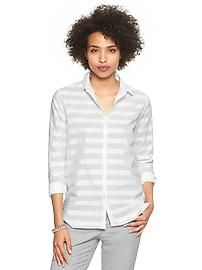 Stripe dobby shirt