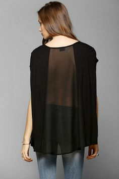 Sparkle & Fade Chiffon-Back Tee #urbanoutfitters