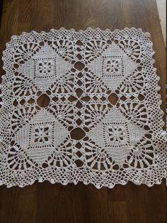Best 9 Ravelry: New Orleans Bedspread pattern by American Thread Company – SkillOfKing. Crochet Table Mat, Crochet Tablecloth Pattern, Crochet Coaster Pattern, Crochet Curtains, Granny Square Crochet Pattern, Crochet Diagram, Crochet Motif, Hand Crochet, Crochet Patterns