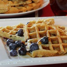 Blueberry Flax Waffles