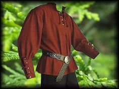 Medieval-Shirt-Laced-Up-Pirate-Reenactment-SCA-Renaissance-Landlord-Knight