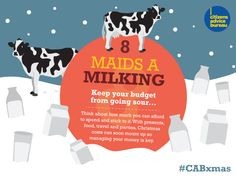 Keep your budget from going sour - think about how much you can afford to spend and stick to it #CABxmas