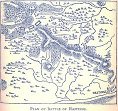Map of the Battle of Hastings - October 14, 1066