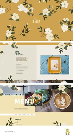 http://cafefrida.ca UI One page, scroll animation