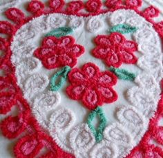 Red Heart Vintage Chenille Bedspread