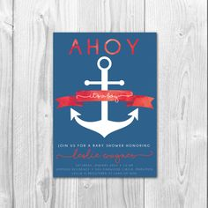 Ahoy It's A Boy  Customizable Baby Shower by SarahNelsonStudios