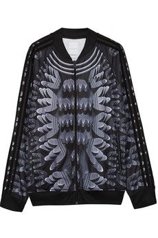 adidas Originals + Mary Katrantzou Monster Marathon twill track jacket   NET-A-PORTER