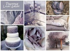 Moodboard created by Emily Morgan, Pantone: Lilac Grey via UKAWEP/Diploma in Wedding Event Planning, Styling and Design Lilac Wedding, Trendy Wedding, Dream Wedding, Crystal Wedding, Summer Wedding, Wedding Themes, Wedding Events, Wedding Ideas, Wedding Goals