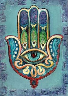 he Hamsa is an ancient The Hamsa Middle Eastern amulet symbolizing the Hand of God. In all faiths it is a protective sign. It brings its owner happiness, luck, health, and good fortune Hand Kunst, Hamsa Art, Afrique Art, Arabic Art, Hand Of Fatima, Hippie Art, Jewish Art, Egyptian Art, Eye Art