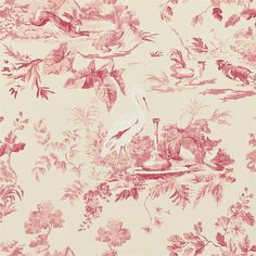 Potential wallpaper for papering the wardrobe doors in my guest room. Might be too pink?