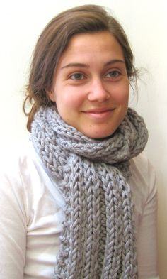 Chunky Handknit Scarf - Hand Knitted Scarf - The Chunky Scarf - Acrylic -