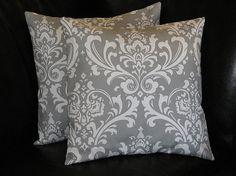 Grey Pillows Toss Pillows gray 26 inch EUROS set of by beckorama, $55.00