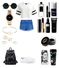 """""""Без названия #3436"""" by southerncomfort ❤ liked on Polyvore featuring VILA, ASOS, Topshop, Vans, Kate Spade, Marc by Marc Jacobs, MANGO, Christian Dior, Lord & Berry and Givenchy"""