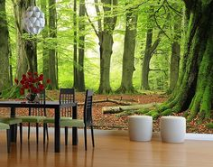 Produktfoto Selbstklebende Tapete - Fototapete Wald...