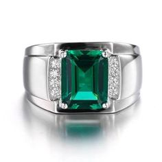 Women's Jewelry The Dailytechstudios collection of women's jewelry allows you to shop for new styles with ease. Green Diamond, Emerald Diamond, Mens Silver Jewelry, Women Jewelry, Mens Emerald Rings, Sterling Sliver, Rings For Men, Wedding Rings, Healing Crystals