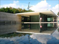 The Barcelona Pavilion (Barcelona, 1929 by Ludwig Mies van der Rohe)