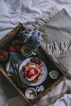 Strawberry Goat Cheese Pancakes