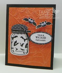 Wicked Cool and using Epsom Salts for a background by Debbie Henderson, Debbie's Designs, Stampin' Up! Products